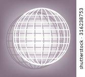 earth globe   vector icon | Shutterstock .eps vector #316238753