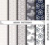 asian vector pattern pattern... | Shutterstock .eps vector #316239548