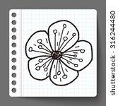 flower doodle | Shutterstock .eps vector #316244480