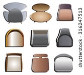 chairs top view set 4 for... | Shutterstock .eps vector #316247513