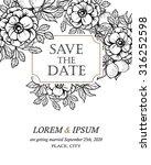 romantic invitation. wedding ... | Shutterstock .eps vector #316252598