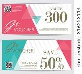 gift voucher certificate coupon ... | Shutterstock .eps vector #316253114