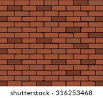 red brick wall seamless vector... | Shutterstock .eps vector #316253468