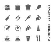 food icons set | Shutterstock .eps vector #316254236