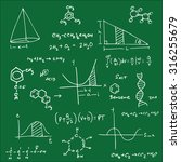 science equation and structure... | Shutterstock .eps vector #316255679