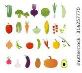 vegetables. set. elements for... | Shutterstock .eps vector #316257770