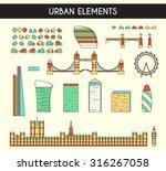 skyscrapers city high rises. ... | Shutterstock .eps vector #316267058