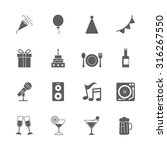 party icons set | Shutterstock .eps vector #316267550