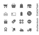 shopping icons set | Shutterstock .eps vector #316267664