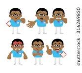 nursing staff  in different... | Shutterstock .eps vector #316269830