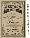 western vintage frame label...   Shutterstock .eps vector #316272206