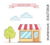 vector illustration of grocery...   Shutterstock .eps vector #316272818