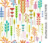 seamless wallpaper with color ... | Shutterstock .eps vector #316274498