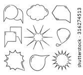 comic speech bubble  hand drawn ... | Shutterstock .eps vector #316274513