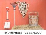 Farm Tools In Old Barn