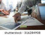 double exposure of businessman... | Shutterstock . vector #316284908