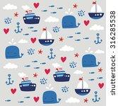 children's pattern with cute... | Shutterstock .eps vector #316285538
