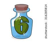 figure 6 retro laboratory flask....   Shutterstock .eps vector #316285814