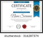 vector certificate template. | Shutterstock .eps vector #316287374