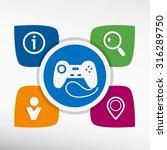 joystick icon and icons set...