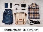 still life of casual man. ... | Shutterstock . vector #316291724