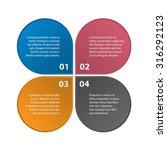inforgraphic template. 4 steps  ... | Shutterstock .eps vector #316292123
