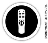 remote control    vector icon | Shutterstock .eps vector #316292246