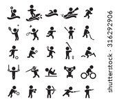 sports icon set | Shutterstock .eps vector #316292906