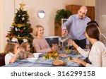 christmas celebration in the... | Shutterstock . vector #316299158