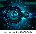 dark blue color light abstract... | Shutterstock .eps vector #316300664