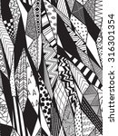 black and white graphic pattern ... | Shutterstock .eps vector #316301354
