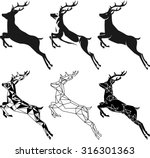 Stylization Leaping Deer For...