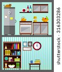 furniture set for rooms of... | Shutterstock .eps vector #316303286