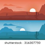 lonely desert wild nature... | Shutterstock .eps vector #316307750