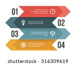 flat vector infographic layout... | Shutterstock .eps vector #316309619