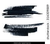 splash banner. watercolor... | Shutterstock . vector #316309889