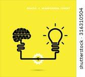 creative brainstorm concept...   Shutterstock .eps vector #316310504