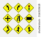 set of road signs  direction of ... | Shutterstock .eps vector #316310618
