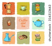 collection coffee and tea...   Shutterstock . vector #316313663