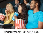 young couple at the movie... | Shutterstock . vector #316314458