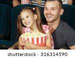 little girl and her elder... | Shutterstock . vector #316314590