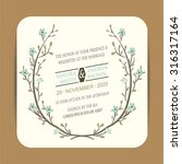 wedding invitation and greeting ... | Shutterstock .eps vector #316317164