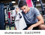 portrait of a handsome... | Shutterstock . vector #316319999