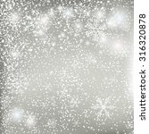 silver christmas background  | Shutterstock .eps vector #316320878