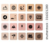 location icons. map icons.... | Shutterstock .eps vector #316321280
