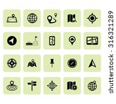 location icons. map icons.... | Shutterstock .eps vector #316321289