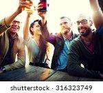diverse people friends hanging... | Shutterstock . vector #316323749