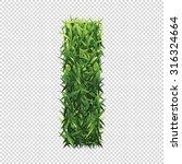 alphabet i of green grass. a... | Shutterstock .eps vector #316324664