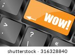 wow button on computer keyboard ... | Shutterstock .eps vector #316328840