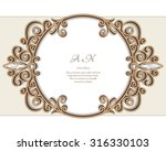 vintage gold jewelry background ...   Shutterstock .eps vector #316330103